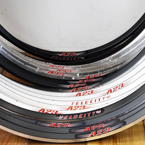Velocity / A23 Rim / 700c 28H or 32H / Various colors