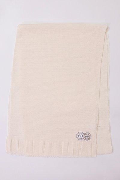 【R-225】正絹 絽縮緬無地帯揚げ 真珠色