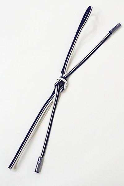 銀座【S-217】京都 衿秀 夏 帯締め 畝打組 濃藍色×白色