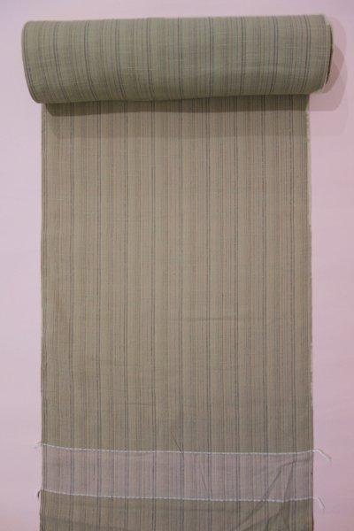 銀座【A-1564】木綿着物地反物 榛色 微細縞