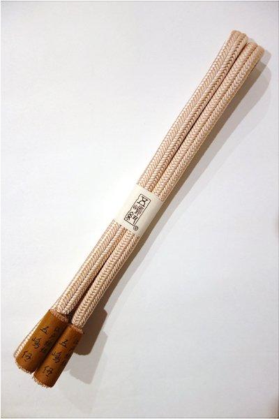 【G-629】五嶋紐 正絹 帯締め 冠組 10 肌色(新品)