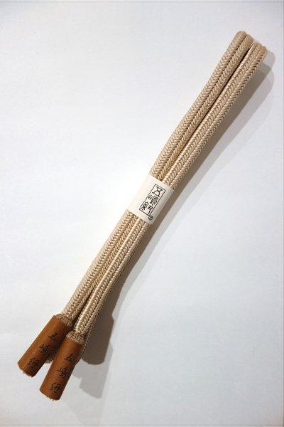 世田谷【S-715】五嶋紐 正絹 帯締め 冠組 15 亜麻色 (新品)