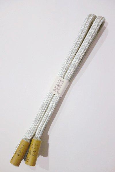 あおき【S-731】五嶋紐 正絹 帯締め 冠組  31 白磁色 (新品)