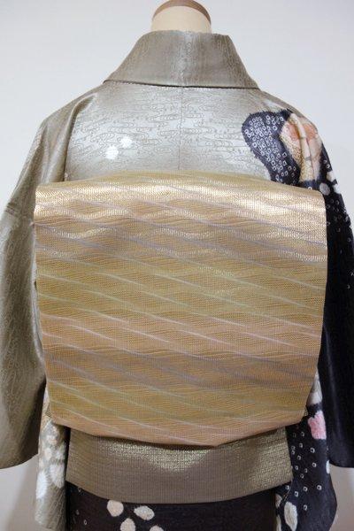 あおき【L-2499】袋帯 榛色 抽象文