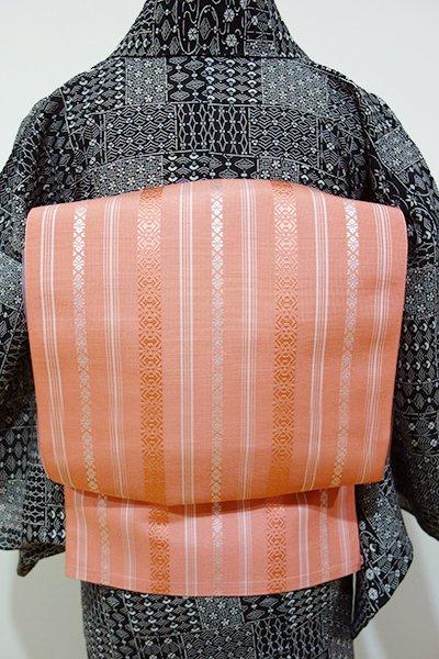 あおき【K-3887】紗献上 博多織 開き八寸名古屋帯 東雲色