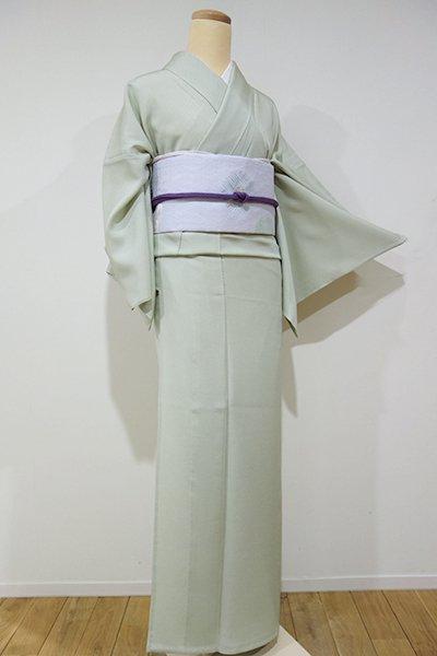銀座【C-1040】単衣 江戸小紋 裏葉柳色 行儀(新品・しつけ付)