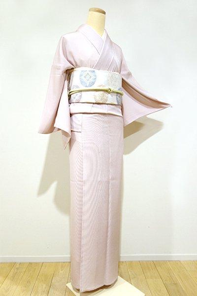 銀座【C-1052】単衣 江戸小紋 退紅色 万筋(新品・しつけ付)