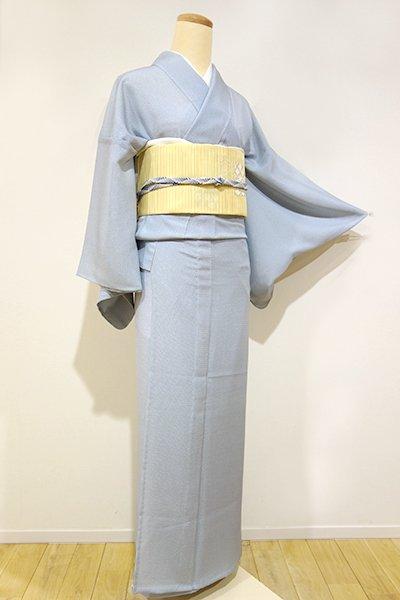 銀座【C-1053】絽 江戸小紋 浅縹色 大小霰(新品・しつけ付)