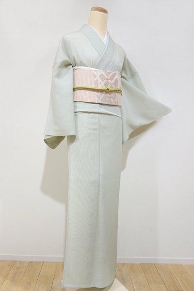 銀座【C-1074】絽 江戸小紋 山葵色 万筋(しつけ付)(N)