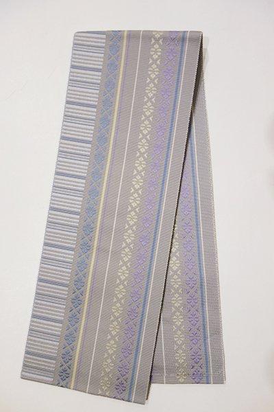 銀座【G-778】博多織 伊達締め 薄鈍色×藤鼠色×藍鼠色(新品)