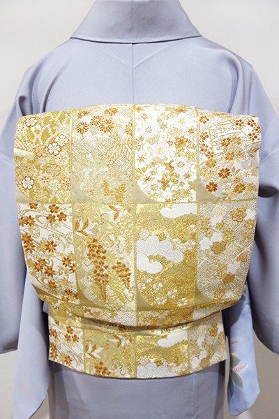 WEB限定【L-2988】袋帯 金色 誰が袖文