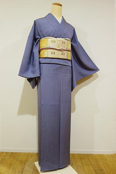 銀座【C-1159】繍一ッ紋 江戸小紋 褐色 鮫(しつけ付)