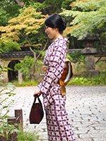 あおき【着物1995】草紫堂製 南部絞紫根染 着物
