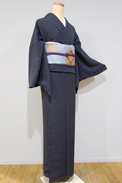 銀座【C-1177】江戸小紋 黒色 角通し(しつけ付・新品)
