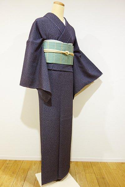 銀座【C-1190】江戸小紋 濃鼠色 福良雀(しつけ付)