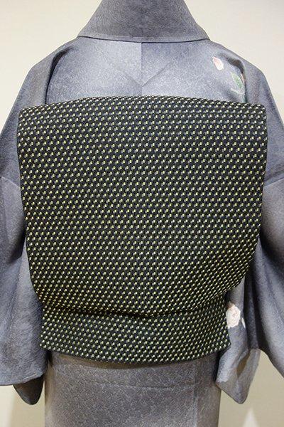 WEB限定【L-3233】洒落袋帯 黒色 細やかな幾何文