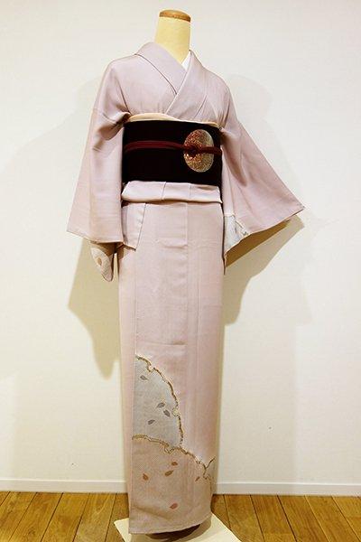 WEB限定【B-1670】↓Sサイズ↑染一ッ紋 付下げ 淡い虹色 大雪輪に桜の図