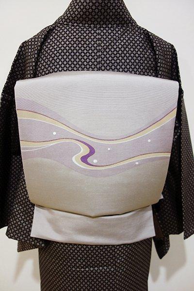 WEB限定【L-3323】紬地 洒落袋帯 潤色 抽象文