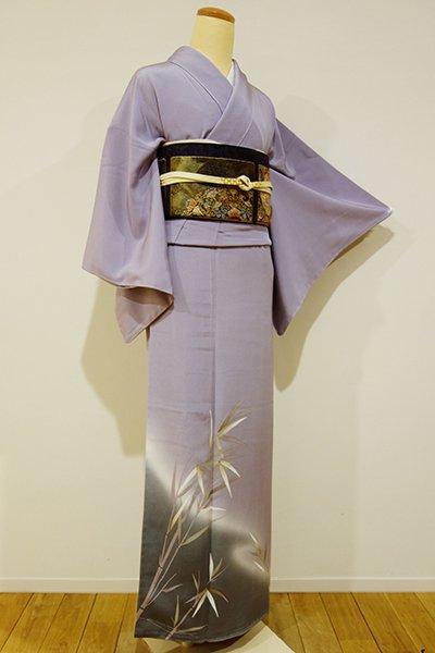 銀座【B-1686】↓Sサイズ↑染一ッ紋 色留袖 半色 笹の図(しつけ付)