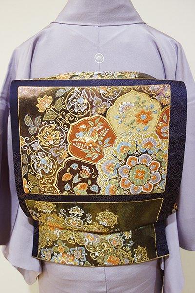 WEB限定【L-3331】袋帯 深い褐色 華文