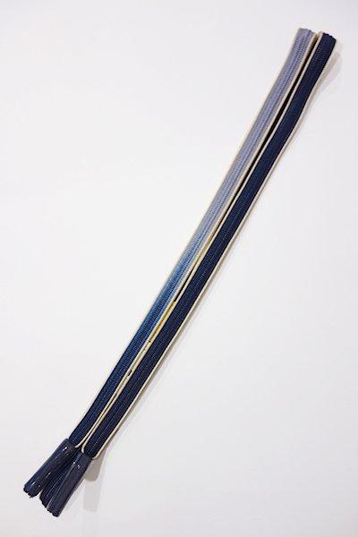 世田谷【G-863-2】京都 衿秀製 帯締め 畝打組 藍色濃淡 暈かし(新品)