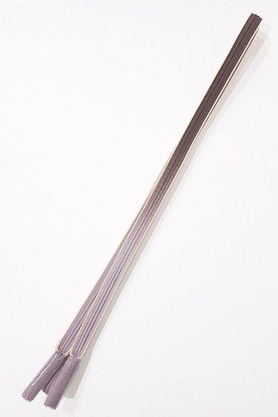 銀座【G-879】京都 衿秀製 帯締め 畝打組 黒鳶色×鳩羽色 暈かし(新品)
