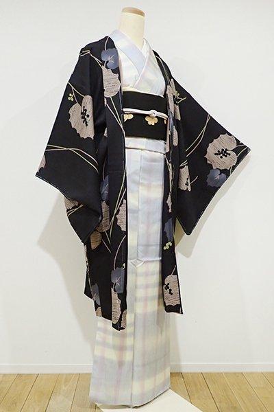 銀座【E-821】羽織 黒色 野葡萄の図