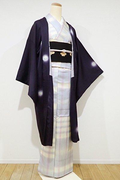 銀座【E-823】羽織 濃鼠色 たんぽぽの図