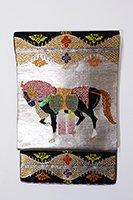 【帯2437】龍村平蔵製 本袋帯「天竺祭馬錦」