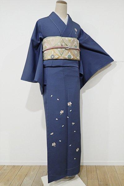 あおき【B-1707】↓Sサイズ↑繍一ッ紋 付下げ 薄花色 桜の花の図(しつけ付)