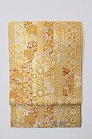 銀座【帯2450】西陣 河村織物製 袋帯「王朝雅優麗文」