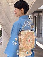 【帯2494】龍村平蔵製 本袋帯「小蜀紅錦」