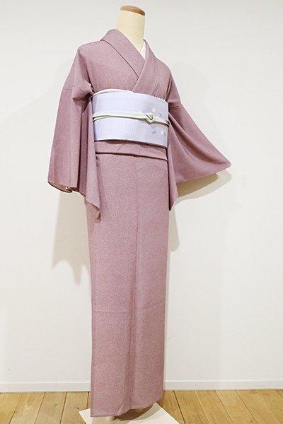 WEB限定【C-1269】(S)きもの英製 単衣 繍一ッ紋 江戸小紋 浅蘇芳色 鮫