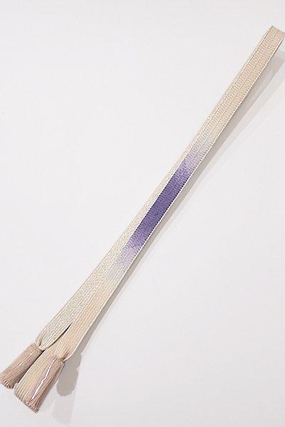 銀座【G-895-3】京都 衿秀製 帯締め 平組 濃鼠色×灰梅色 暈かし(新品)