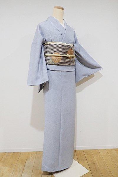 銀座【C-1271】江戸小紋 淡い薄花色 雨縞(しつけ付・新品)