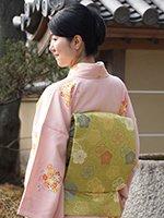 あおき【帯2500】西陣 龍村美術織物製 織名古屋帯「花卉祥栄文」