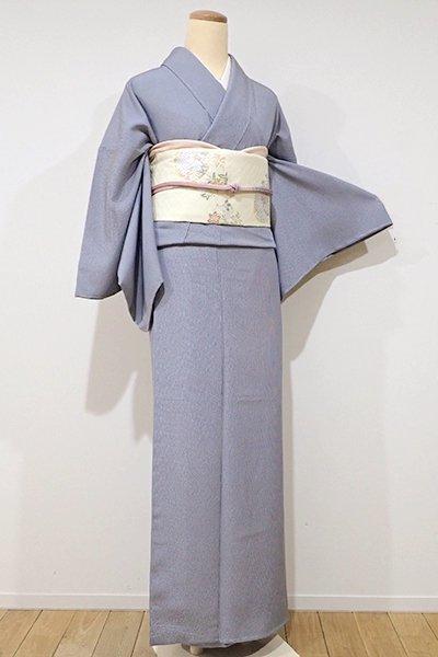 銀座【C-1285】江戸小紋 藍鉄色 万筋(しつけ付・新品)