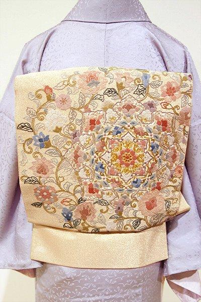 WEB限定【L-3498】相良刺繍 袋帯 金色 華文
