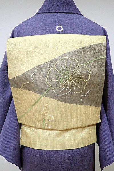 WEB限定【K-4892】紗 織名古屋帯 金色 花の図
