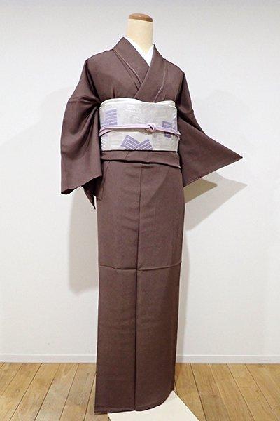 世田谷【C-1305】単衣 江戸小紋 焦茶色 鮫(しつけ付・新品)