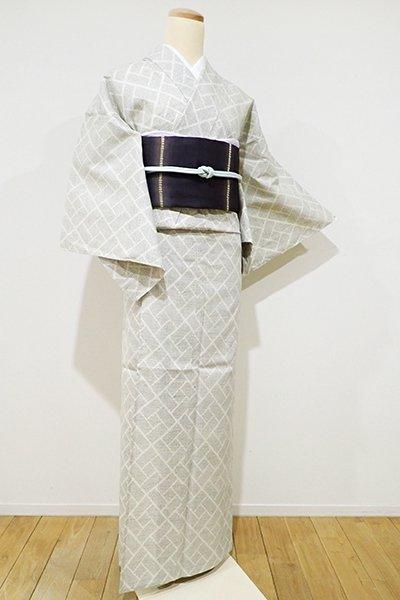 WEB限定【A-2332】単衣 紬 白練色 幾何文