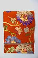 【帯2575】龍村平蔵製 夏本袋帯「上代紗唐草」