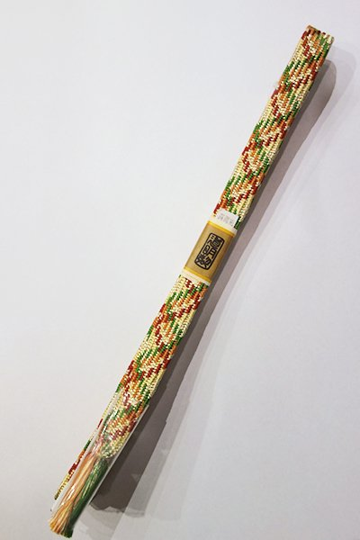 世田谷【G-977】道明 帯締め 高麗組 金×赤×鶸萌黄など (未使用)