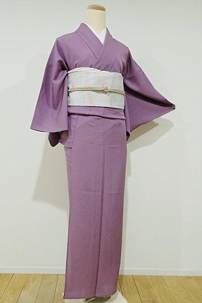 WEB限定【C-1350】↑Sサイズ↓←ユッタリ→絽 染一ッ紋 色無地 古代紫色