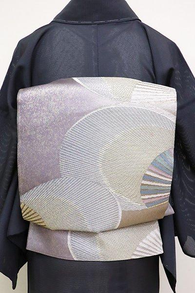 あおき【L-3633】紗 袋帯 鳩羽色 抽象文