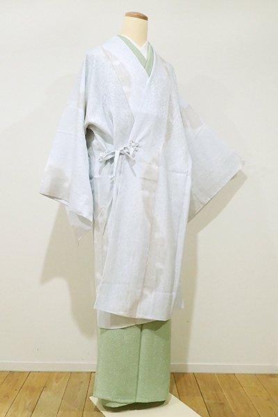 銀座【E-878】紋紗 道中着 月白色 雪輪に唐草文(新品)