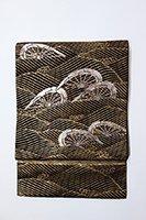 銀座【帯2611】龍村平蔵製 本袋帯 黒色「名物名取川」