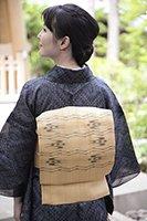 【帯2626】国指定重要無形文化財 喜如嘉の芭蕉布 名古屋帯