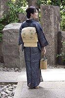 【着物2208】国指定重要無形文化財 宮古上布 (反端付)
