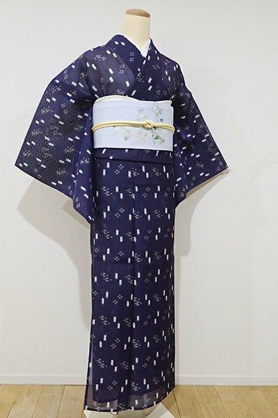 あおき【A-2415】(広め)夏琉球絣 濃藍色 絣文